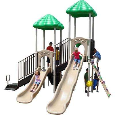 UPlay Today Bighorn Natural Commercial Playset with Ground Spike