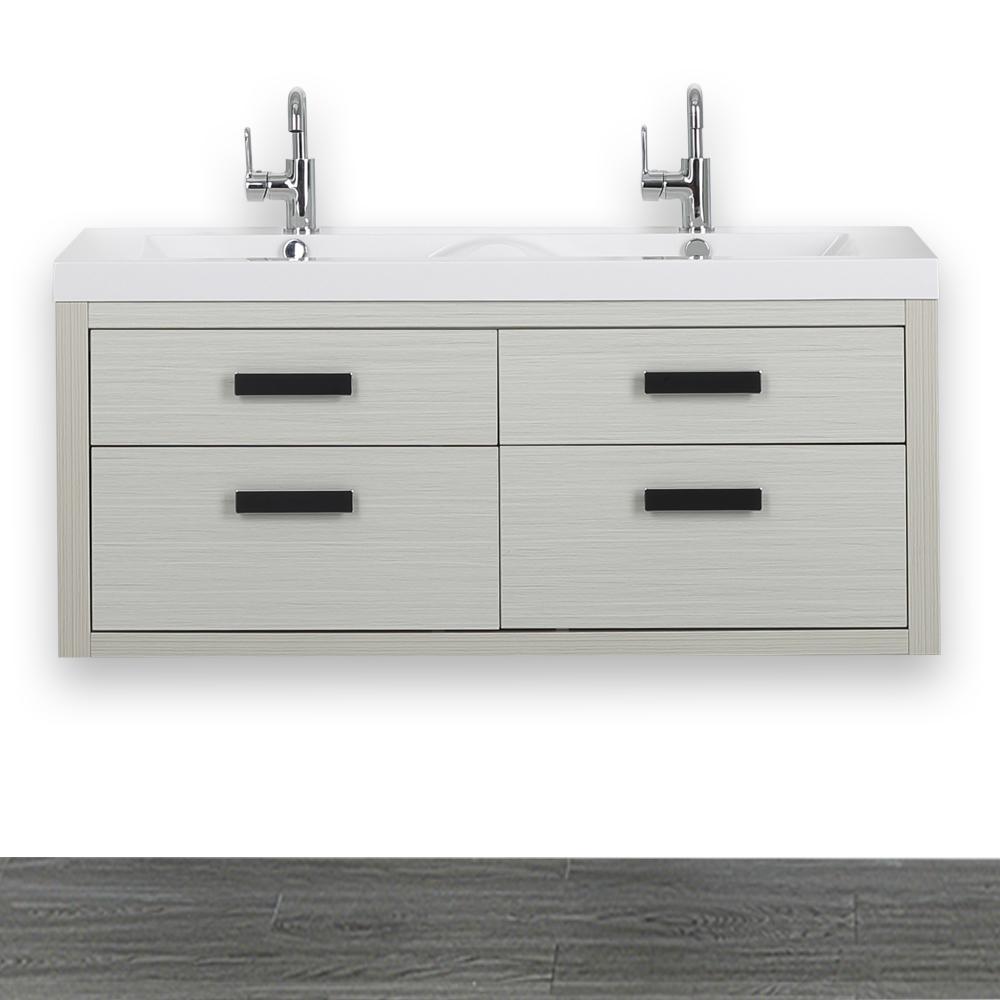 Streamline 47.2 in. W x 19.4 in. H Bath Vanity in Gray ...