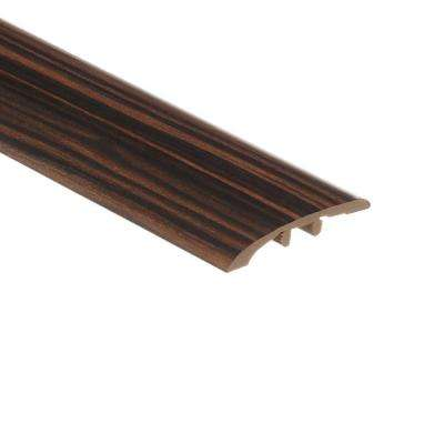 Rosewood Ebony 1/8 in. Thick x 1-3/4 in. Wide x 72 in. Length Vinyl Multi-Purpose Reducer