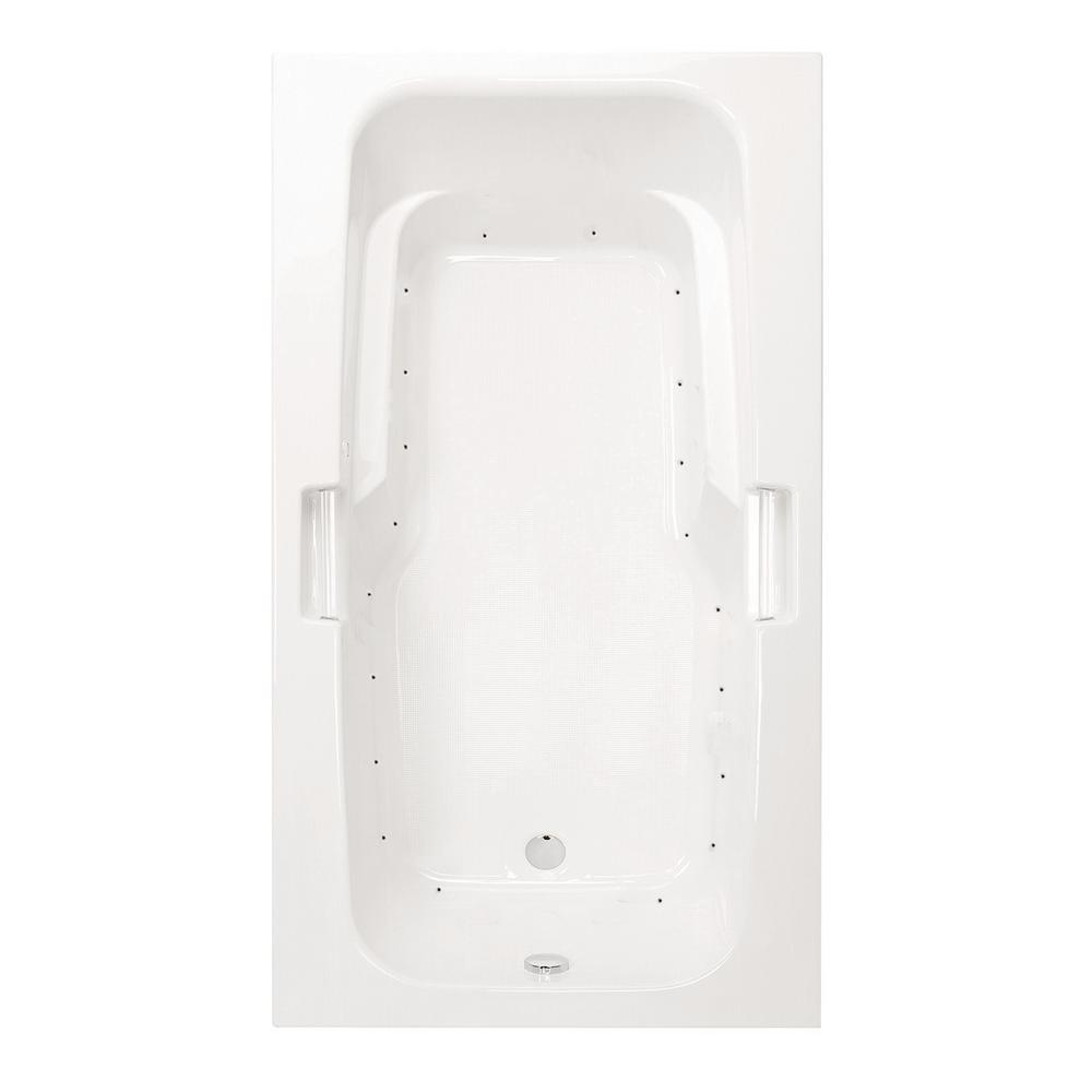 Montrose I 60 in. Acrylic Reversible Drain Rectangular Drop-In Air Bath Tub