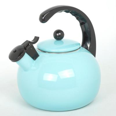 Horizon 2.5 Light Blue Quart Porcelain Enamel on Steel Whistling Tea Kettle