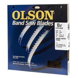 Click here to buy  93-1/2 inch L x 1/8 inch with 14 TPI High Carbon Steel with Hardened Edges Band Saw Blade.