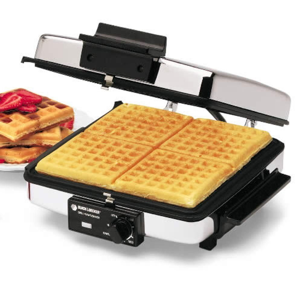 Black Decker Grill And Waffle Baker G48td The Home Depot