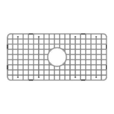 27.62 in. Fireclay Grid for Undermount Single Bowl Sink in Stainless Steel