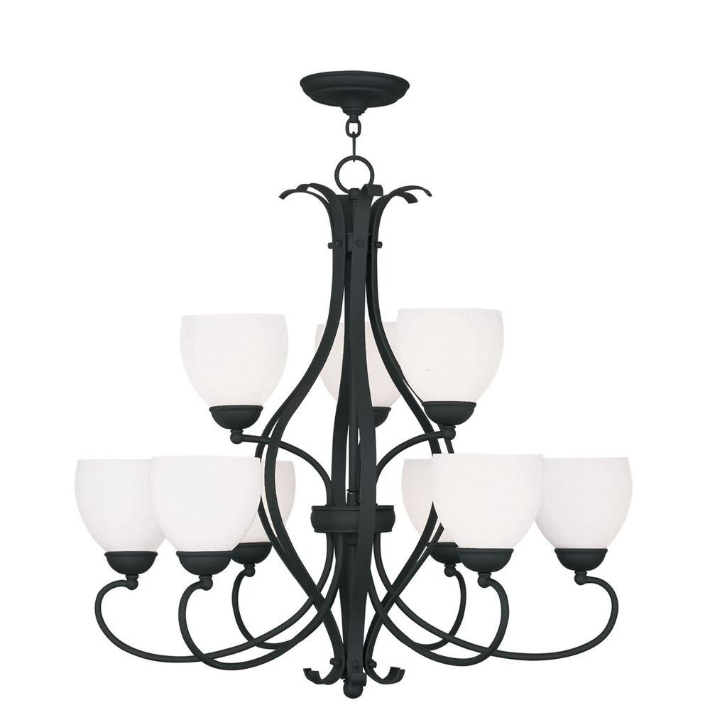 Livex Lighting Providence 9-Light Black Incandescent Ceiling Chandelier
