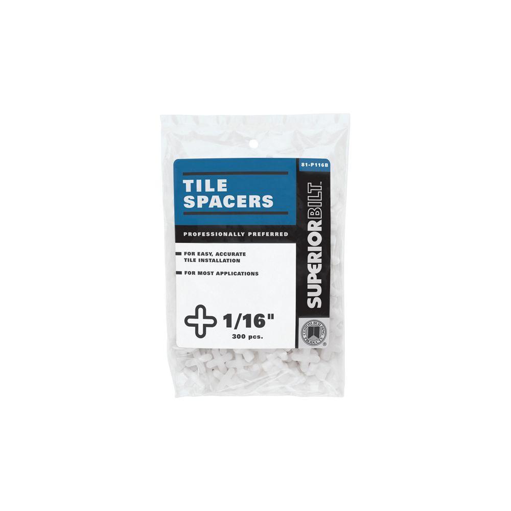 Custom Building Products SuperiorBilt ProBilt Series 1/16 in. Tile Spacers (300 Pieces / Bag)