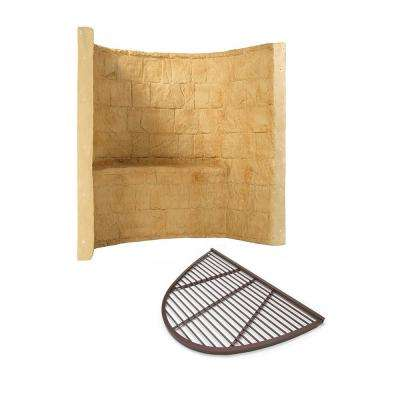 66 in. x 44 in. x 60 in. Tan Premier Composite Window Well with Aluminum Bar Grate