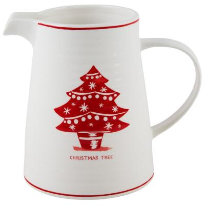 7 in. H Christmas Tree Pitcher