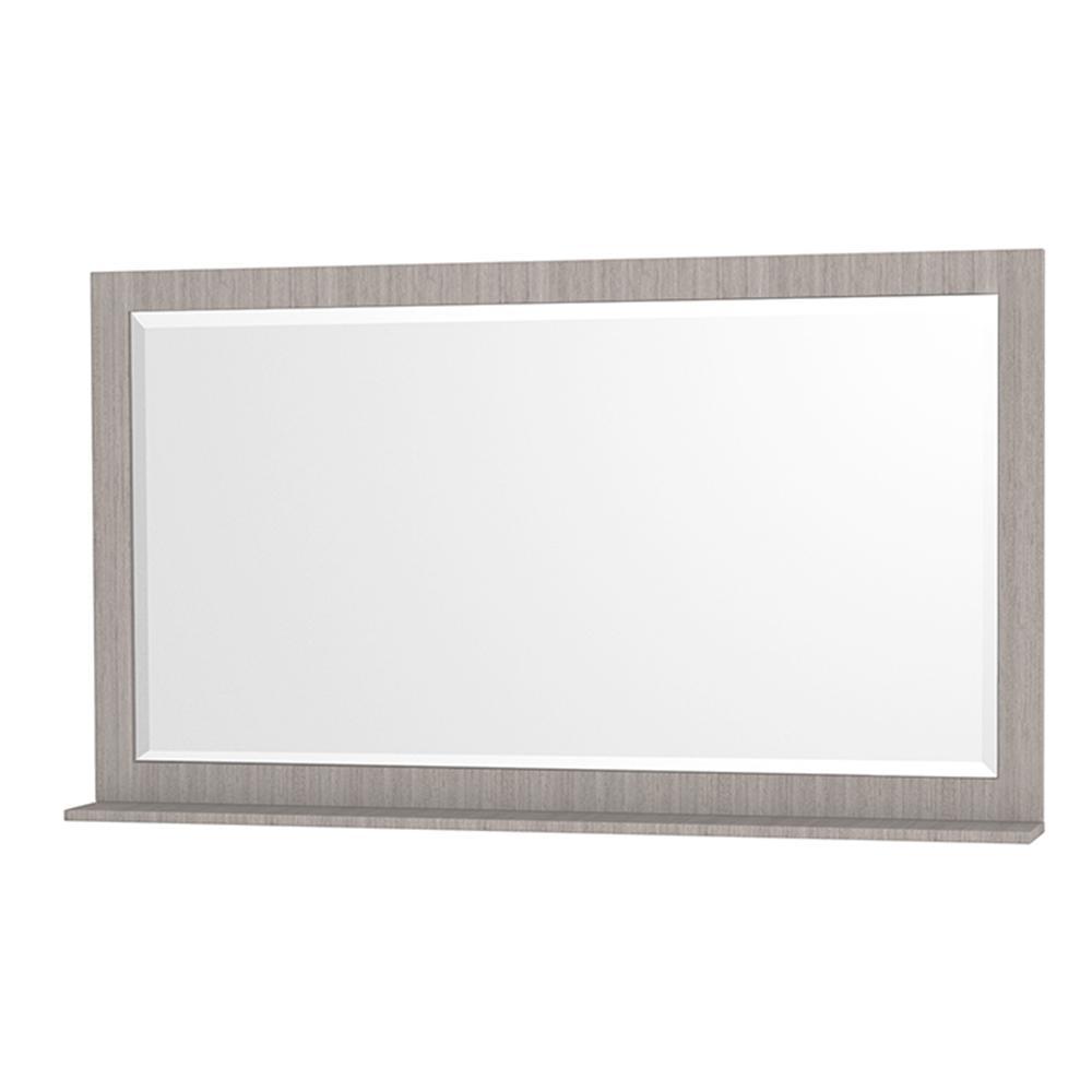 Centra 58 in. W x 33 in. H Framed Wall Mirror in Gray Oak