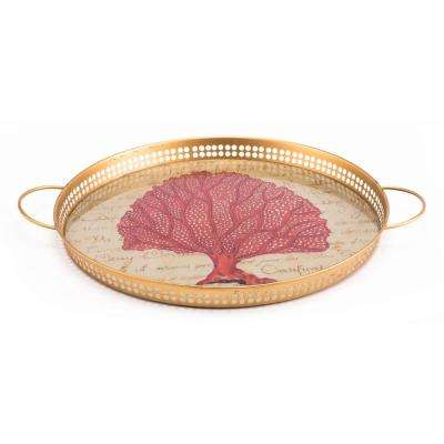 Coral Red Tray