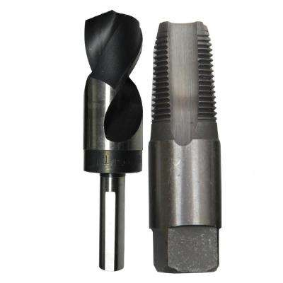 3/8 in. Carbon Steel NPT Pipe Tap and 37/64 in. High Speed Steel Drill Bit Set (2-Piece)