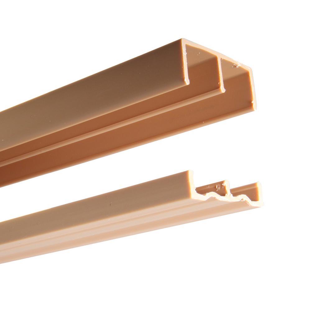2419 Series 60 in. Tan Plastic Door Track Assembly