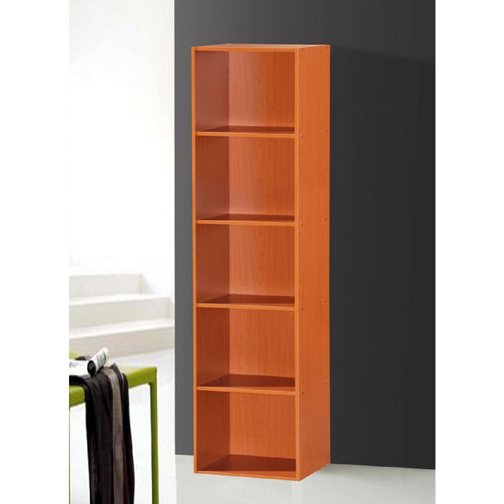 5-Shelf, 59 in. H Cherry Bookcase