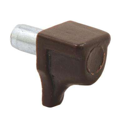 5 mm Brown Plastic and Metal Shelf Support Peg (8-Pack)
