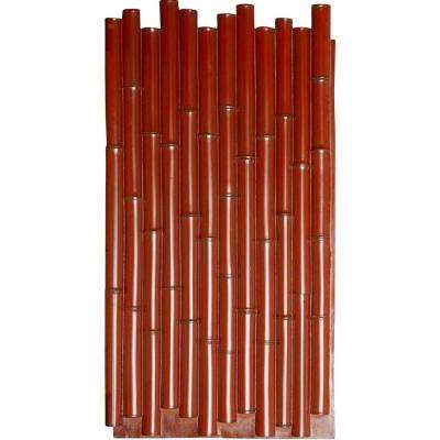 1-3/8 in. x 24-1/2 in. x 49-7/8 in. Mahogany Urethane Bamboo Pole Wall Panel