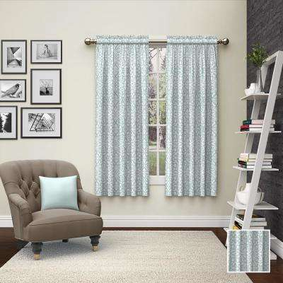 Pinkney Window Curtain Panels in Mist - 56 in. W x 63 in. L (2-Pack)