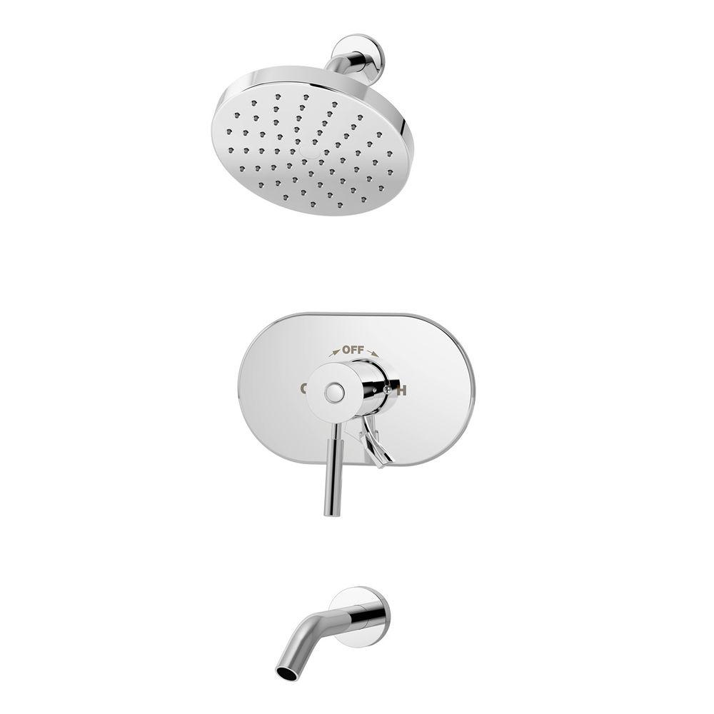 Symmons Sereno 1-Handle 1-Spray Tub and Shower Faucet in Chrome