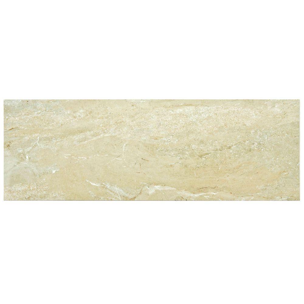 Merola Tile Daino Beige 11-3/4 in. x 35-1/2 in. Ceramic Wall Tile (11.66 sq. ft. / case)