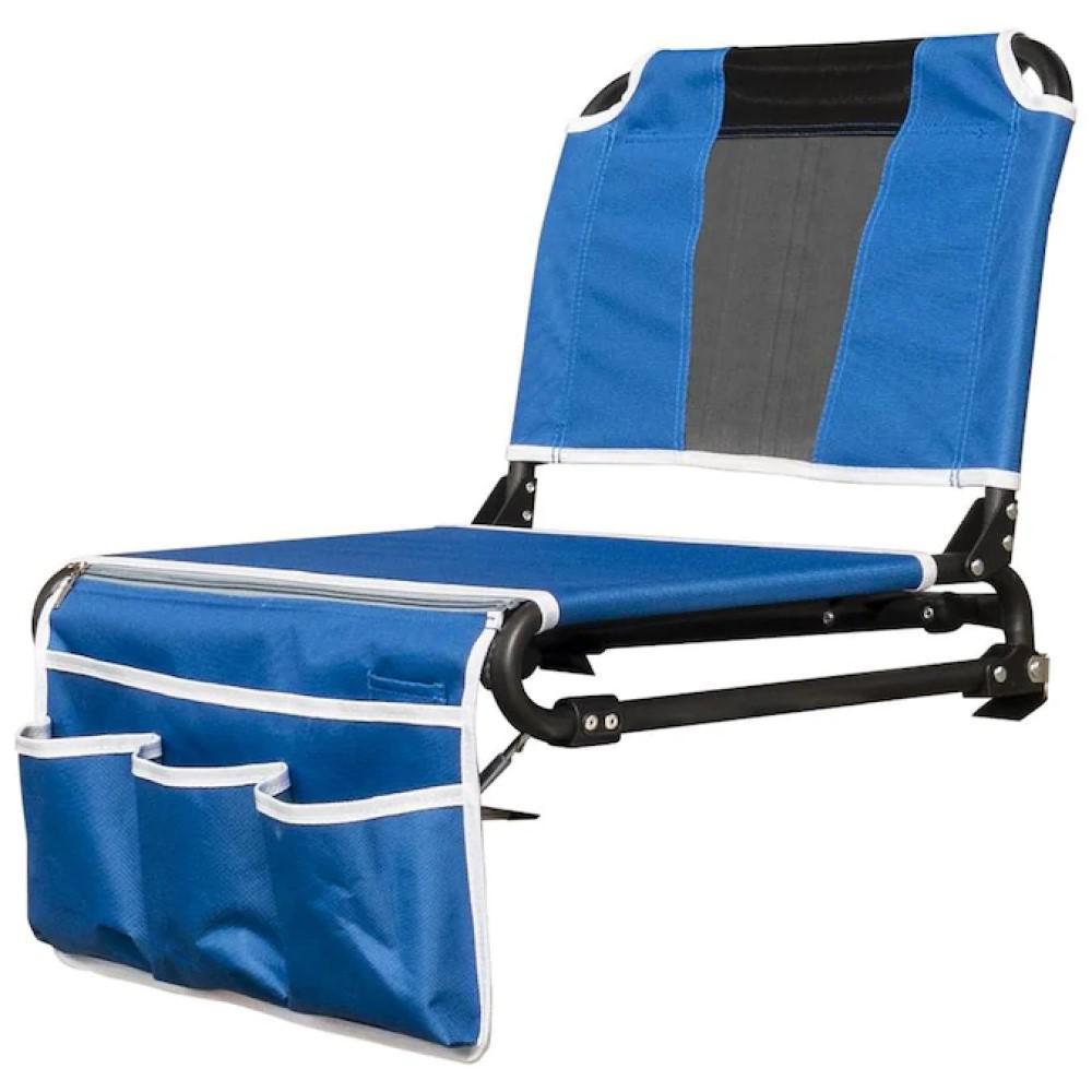 Blue 2-in-1 Folding Bleacher Chair