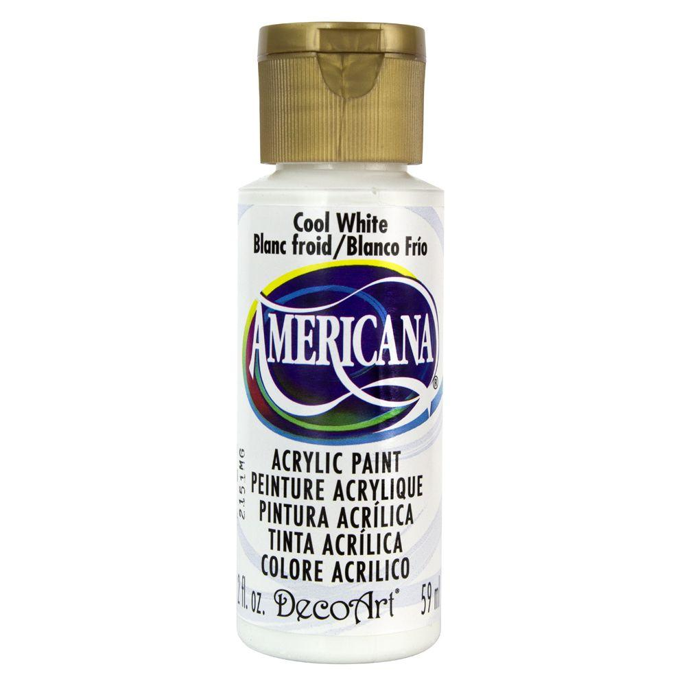 DecoArt Americana 2 oz. Cool White Acrylic Paint