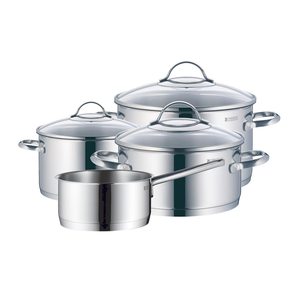 wmf provence plus 7 piece stainless steel cookware set with lids the home depot