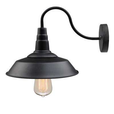 1-Light Black Gooseneck Wall Sconce