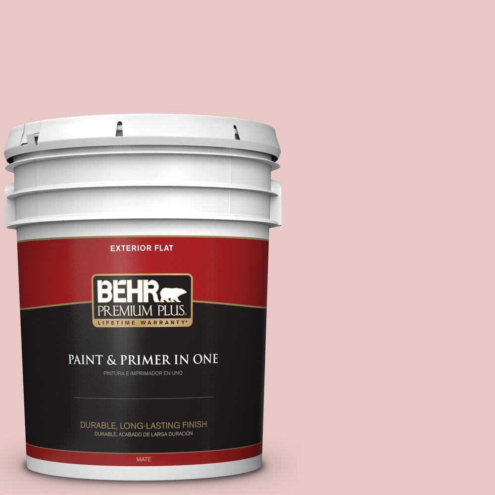BEHR Premium Plus 5-gal. #150E-2 Kashmir Pink Flat Exterior Paint