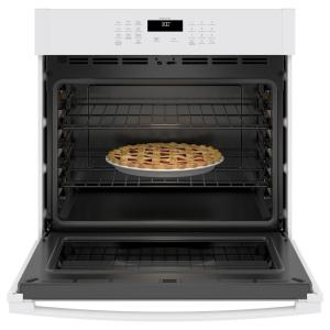 GE 30 in  Smart Single Electric Wall Oven Self-Cleaning with Steam in White