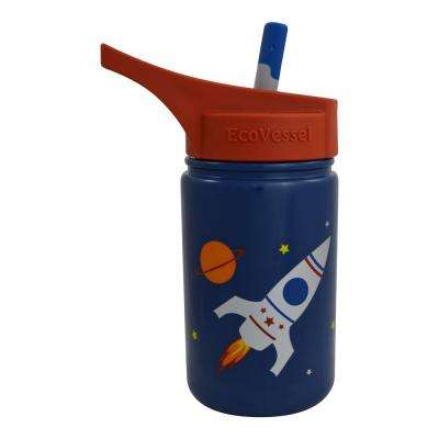 13 oz. Scout Kids Bottle with Straw Top - Blue with Rocketship