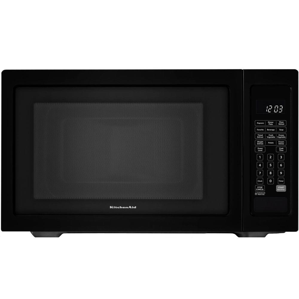 Countertop Microwave In Black Built Capable With Sensor Cooking