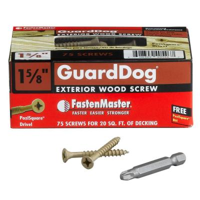 Guard Dog #10 1-5/8 in. Phillips-Square Drive, Bugle Head Wood Screw (75-Pack)