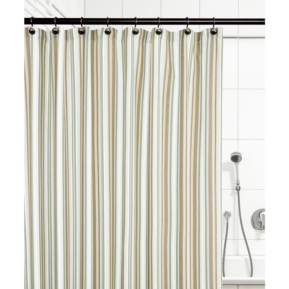 Ellis Curtain Mason Stripe 72 In Spa Shower Curtain 730462124739