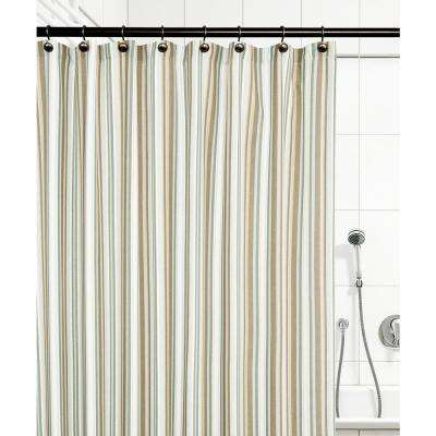 Mason Stripe 72 in. Spa Shower Curtain