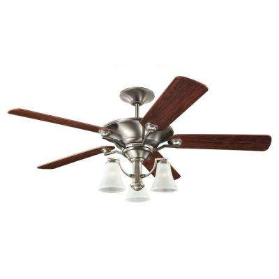Somerton 56 in. Antique Brushed Nickel Ceiling Fan