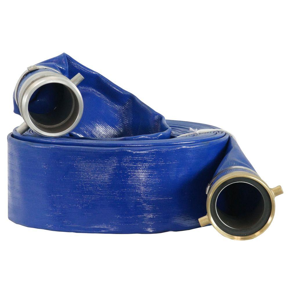 DUROMAX 3 in. x 50 ft. Water Pump Discharge Hose