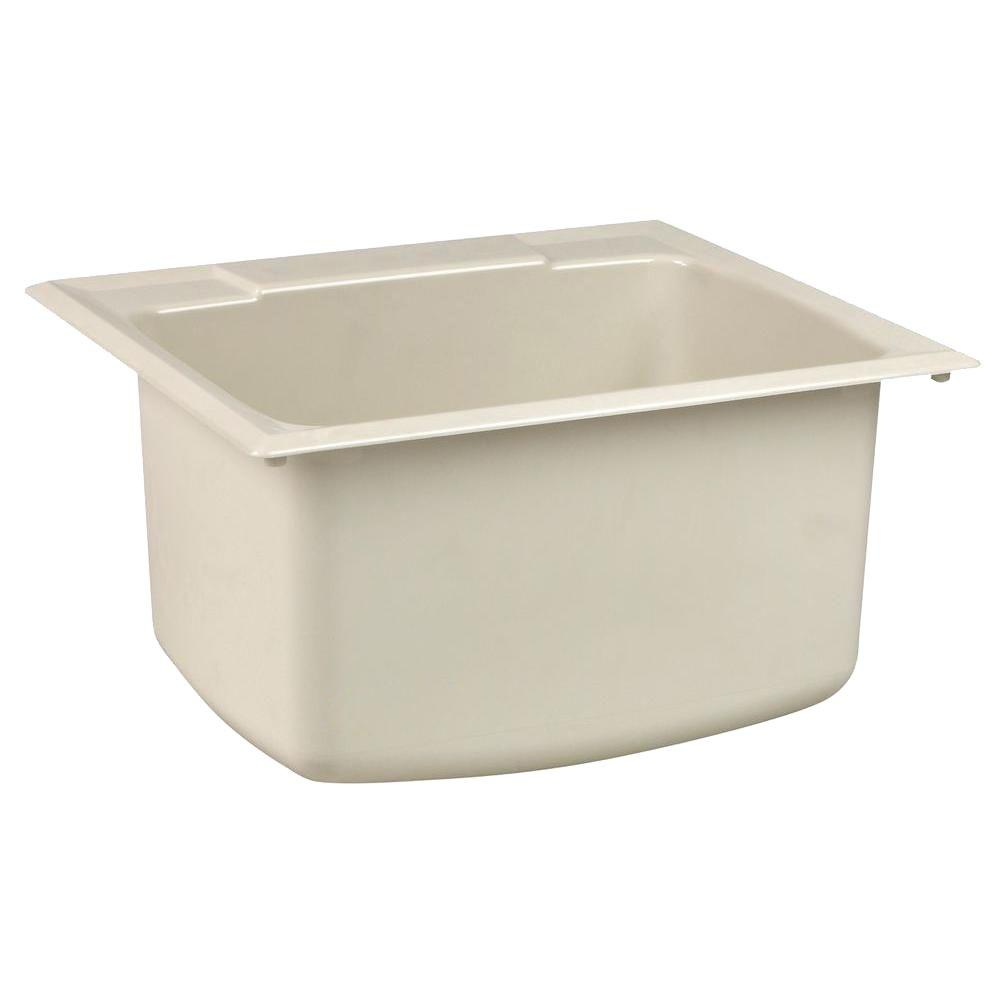 Charmant Fiberglass Self Rimming Utility Sink In Biscuit