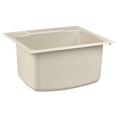 22 in. x 25 in. Fiberglass Self-Rimming Utility Sink in Biscuit