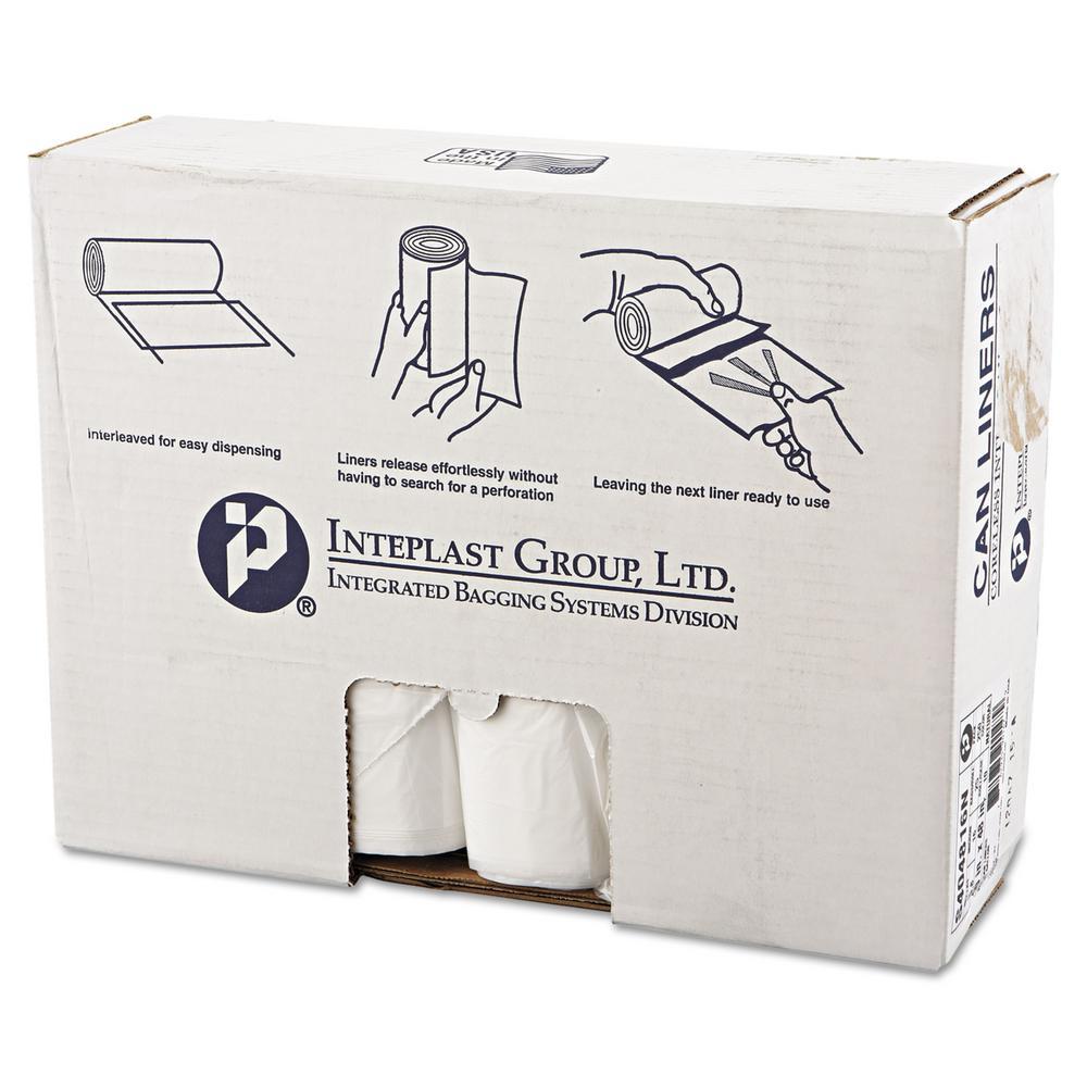High-Density Can Liner, 40 x 48, 45 Gallon, 16mic, Clear, 25/Roll, 10 Rolls/Carton