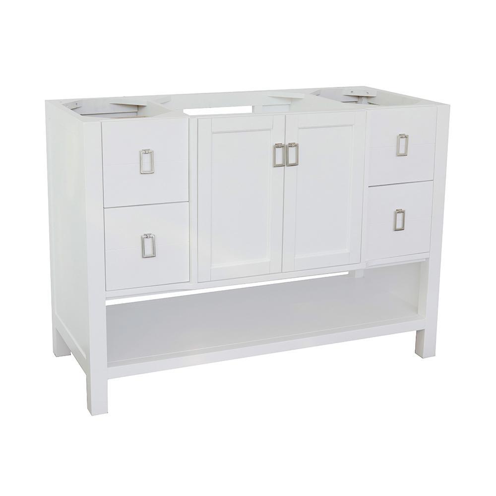 Monterey 48 in. W x 21.5 in. D Bath Vanity Cabinet Only in White
