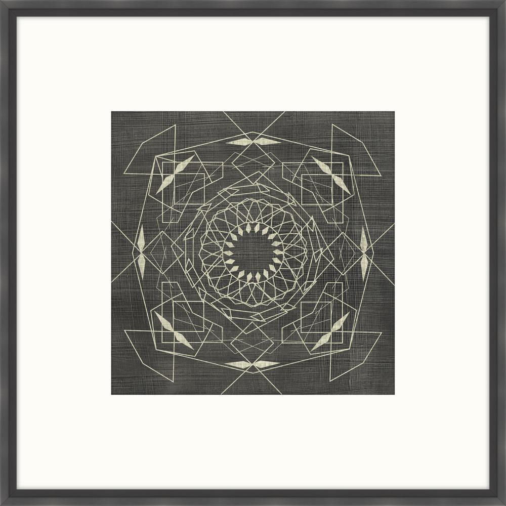 """28 in. x 28 in. """"Geometric Tile V"""" Framed Giclee Print Wall Art"""