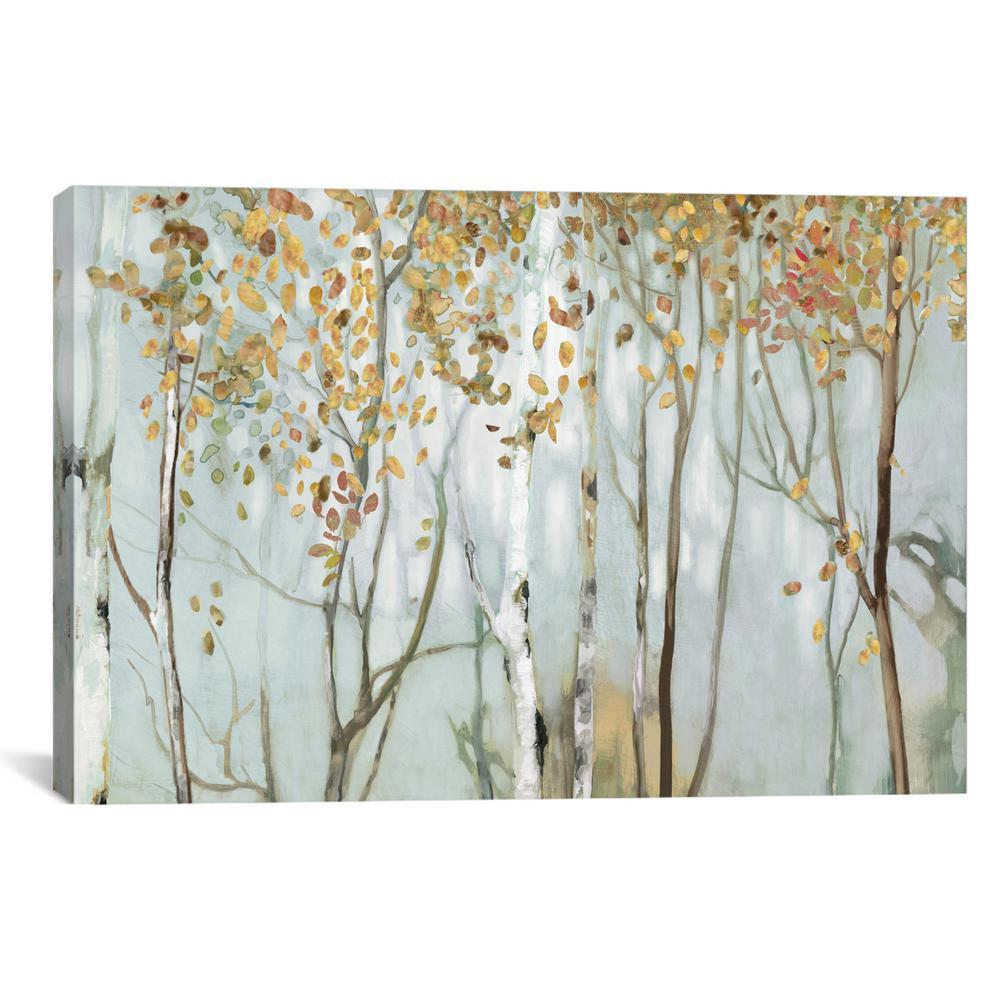 """""""Birch In The Fog II"""" by Allison Pearce Canvas Wall Art"""