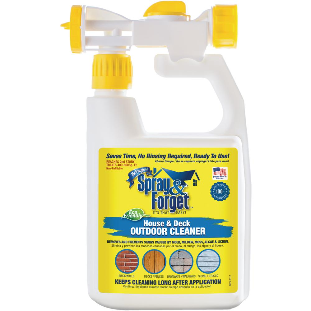 Spray Forget 32 Oz House And Deck Cleaner Outdoor Mold Remover With Hose
