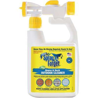 32 oz. House and Deck Cleaner, Outdoor Mold Remover with Hose End Sprayer Bottle