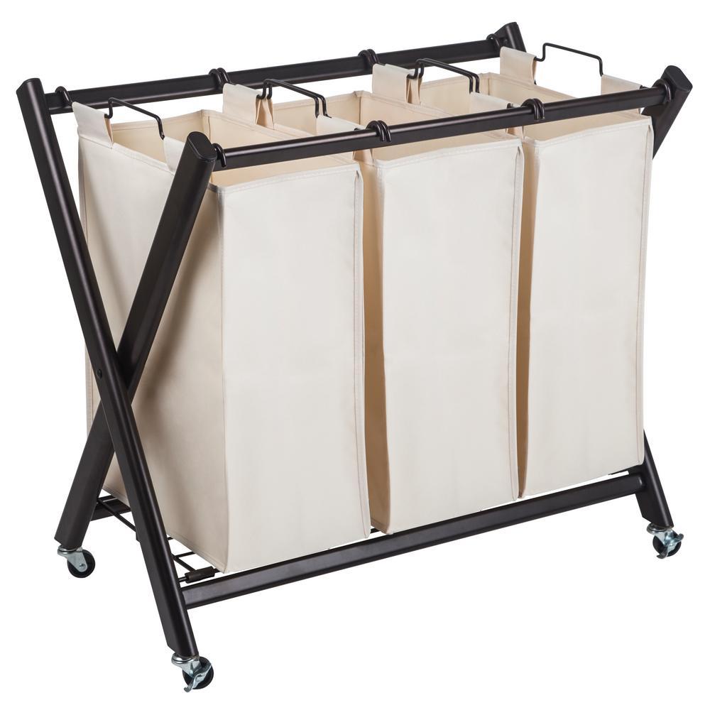 Greenway Deluxe Steel Triple Laundry Sorter-GFL7800BRC ...