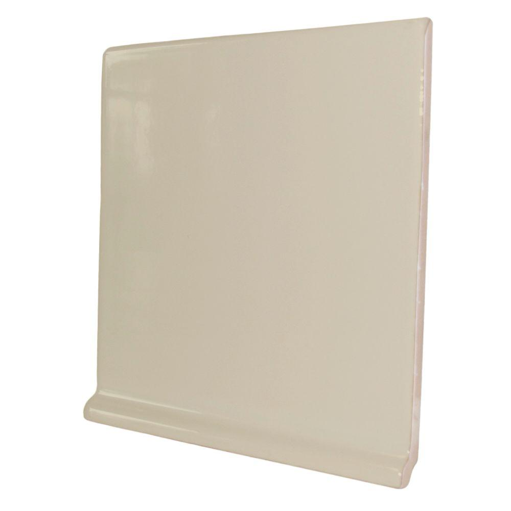 U.S. Ceramic Tile Color Collection Bright Fawn 6 in. x 6 in. Ceramic Stackable Right Cove Base Corner Wall Tile-DISCONTINUED