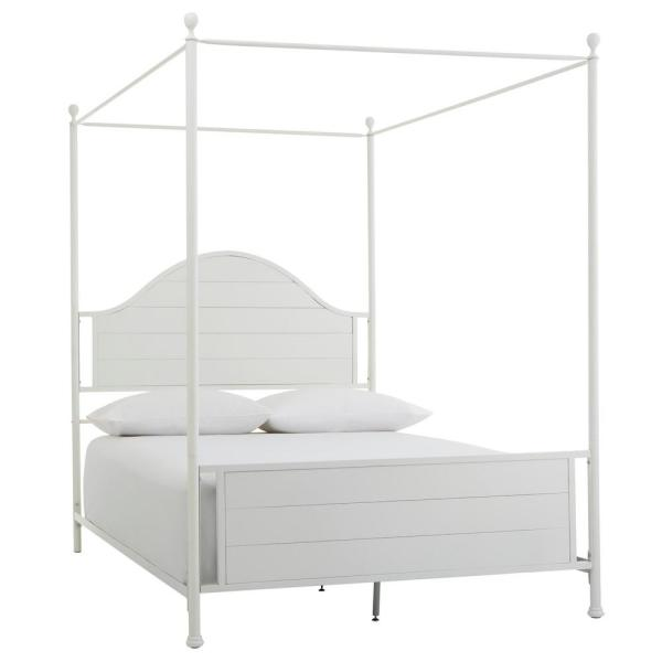 Home Decorators Collection Corlyn, Naples White Queen Canopy Bed