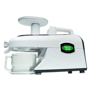 Tribest Greenstar Elite Jumbo Twin Gear Complete Masticating Juicer, White by Tribest