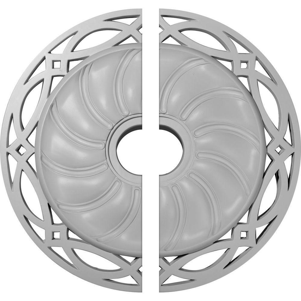26-5/8 in. O.D. x 4-1/2 in. I.D. x 1-3/8 in. P Loera Ceiling Medallion (2-Piece)