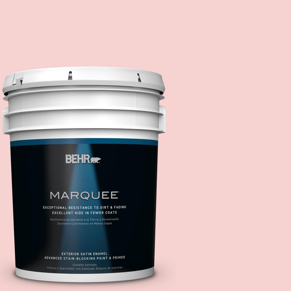 BEHR MARQUEE 5-gal. #P170-1 Youth Blush Satin Enamel Exterior Paint