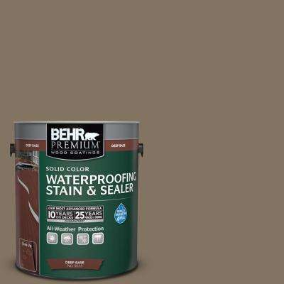 1 gal. #SC-159 Boot Hill Grey Solid Color Waterproofing Exterior Wood Stain and Sealer